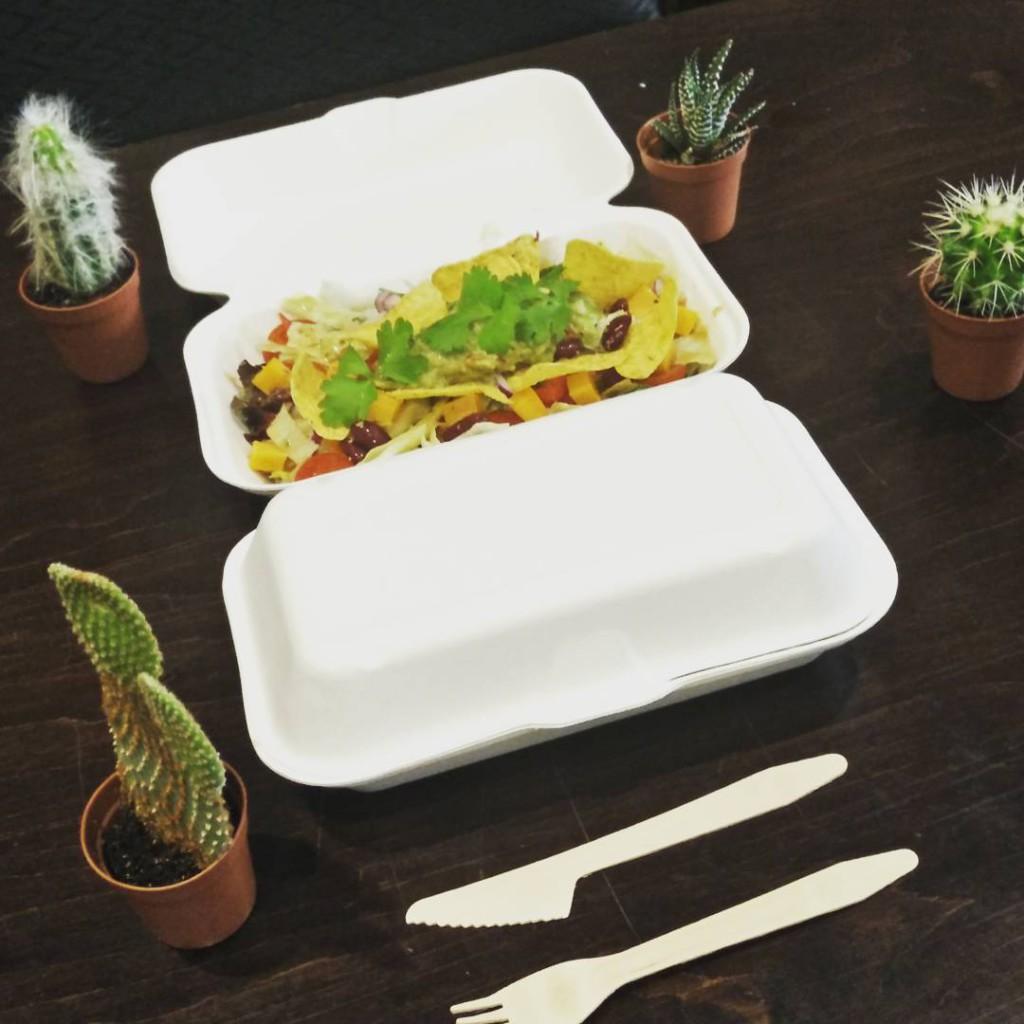 Al onze gerechten kan je ook meenemen. Bewijze hiervan is deze overheerlijke Tacos salade.